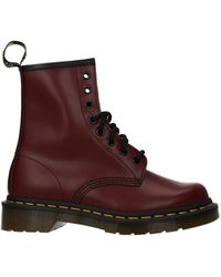 Dr. Martens Ankle Boots Leather Cherry - Red