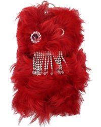 Miu Miu Key Rings Women Red