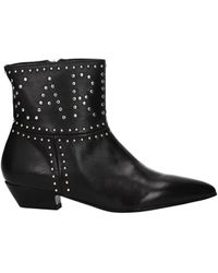 Karl Lagerfeld Ankle Boots Leather - Black