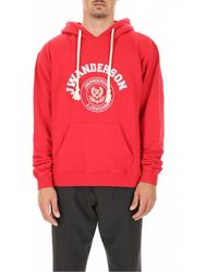 JW Anderson Sweatshirt With Printed - Red