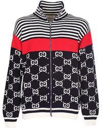 Gucci Cotton Gg Striped Jacket - Multicolor