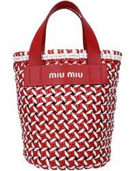 Miu Miu Handbags Polyurethane - Red