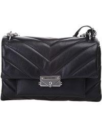 "Michael Kors Michael ""michael"" Kors Cece Shoulder Bag In Black Quilted Leather"