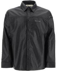 1017 ALYX 9SM Drake Leather Shirt - Black