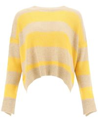 Marni Open Back Striped Jumper - Yellow