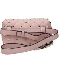 Valentino Garavani Pink Backpacks And Bumbags