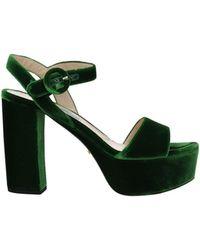 Prada Sandals Velvet - Green
