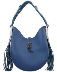 Altuzarra Shoulder Bags Ghianda Hobo Leather - Blue