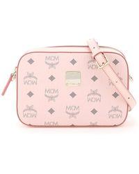 MCM Visetos Logo Camera Bag - Pink