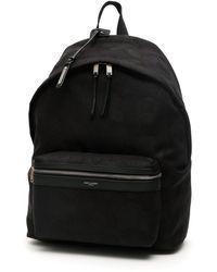 Saint Laurent Camouflage Noir City Backpack - Black