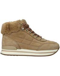 Hogan Sneakers Suede Camel - Natural