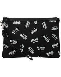 Moschino Clutches Fabric - Black