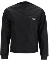 Prada Blouson In Re-nylon Gabardine - Black