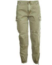 Michael Kors Denim Cargo Pants - Green