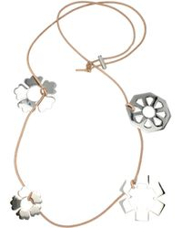 Tory Burch Silver Necklaces - Metallic