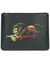 Givenchy Clutches Leather - Black