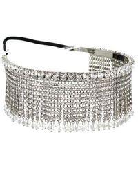 Miu Miu Silver Hair Accessories - Metallic