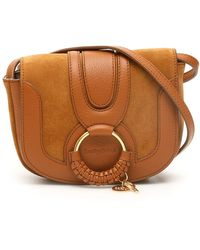 See By Chloé Hana Small Suede Leather Crossbody Cross Body Handbags - Brown