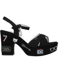 Karl Lagerfeld Sandals Kredo Woman Black