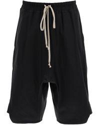 Rick Owens Basket Swingers Shorts 48 Cotton - Black