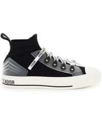Dior Walk'n' Cannage Knit Trainers - Black