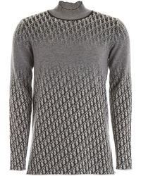 Dior Oblique Cashmere Pull - Grey