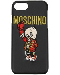 Moschino Iphone Cover Iphone 6/6s/7/8 Acetate - Black