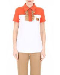 Prada Ruffled Jersey Polo Shirt - White