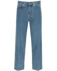 Lanvin Jeans With Crease - Blue