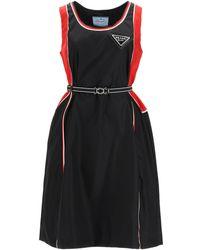 Prada Re-nylon Gabardine Dress - Black