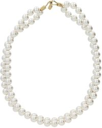 Stella McCartney Ombre Slim Bracelet With Pearls - White