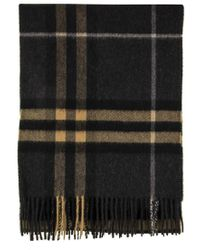 Burberry The Classic Cashmere Scarf In Check - Black