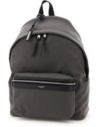 Saint Laurent City Backpack - Grey