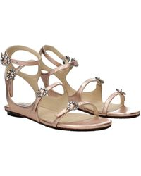 Jimmy Choo Sandals Leather - Pink