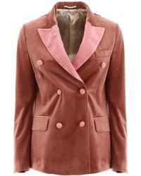 Golden Goose Deluxe Brand Velvet Blazer - Pink
