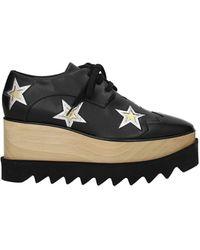 Stella McCartney Lace Up And Monkstrap Eco Leather - Black