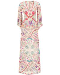 Etro Idra Dress Paisley Print - Multicolour