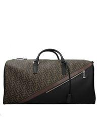 Fendi Travel Bags Men Brown