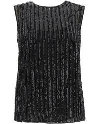 Max Mara Asia Sequined Top - Black