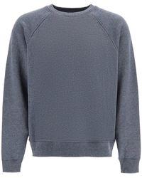 Acne Studios Crewneck Sweatshirt With Logo - Grey