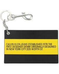 Calvin Klein Key Rings Est 1978 Man Black
