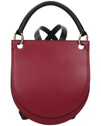 Marni Backpacks And Bumbags Leather Dk Chambray - Red