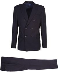 Emporio Armani Basic Double-breasted Suit - Blue