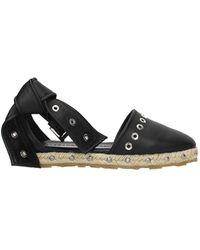 Alexander McQueen Espadrilles Leather - Black