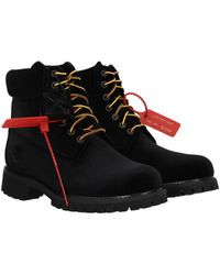 Off-White c/o Virgil Abloh Black Ankle Boot Timberland