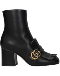 Gucci - Ankle Boots Leather - Lyst