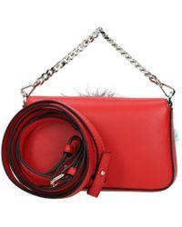 Fendi Red Handbags Micro Baguette