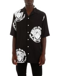 Versace Medusa Short Sleeve Shirt - Black