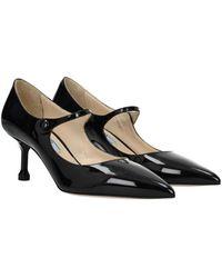 Prada Court Shoes Patent Leather - Black