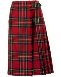 Burberry Tartan Wool Kilt - Red